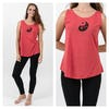 Super Soft Sure Design Women's Tank Tops Yin Yang Red