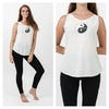 Super Soft Sure Design Women's Tank Tops Yin Yang White