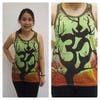 Sure Design Womens Ohm Tree Tank Top Green