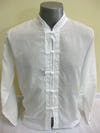 Mens Chinese Collar Yoga Shirt in White