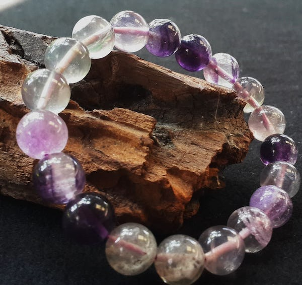 Lucky Stone Hand Made Bracelet Elastic With  Flourite