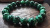 Lucky Stone Hand Made Bracelet Elastic With Malachite