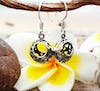 Sterling Silver Thai  Dangle Earrings Classic Flower Ball