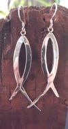 Sterling Silver Thai  Dangle Earrings Ribbon