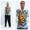Sure Design Sun and Moon Hoodies White