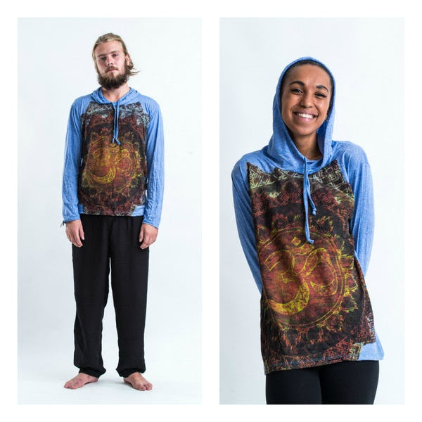 Sure Design Ohm Fire Hoodies Blue