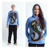 Sure Design Dragon Hoodies Blue
