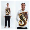 Sure Design Dragon Hoodies White