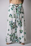 Womens Butterfly Palazzo Pants in Green