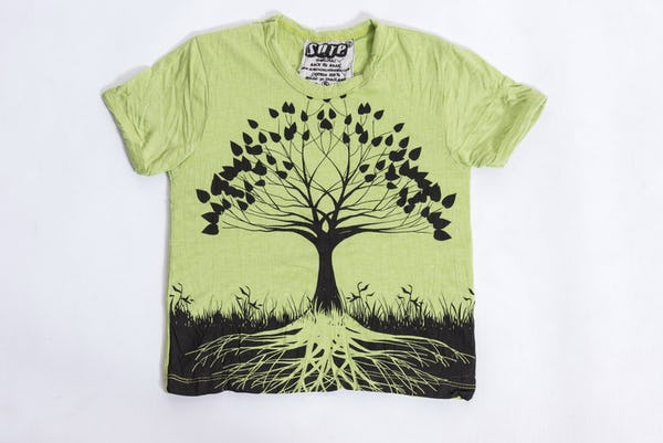 Sure Design Kids Tree Of Life T-Shirt Lime