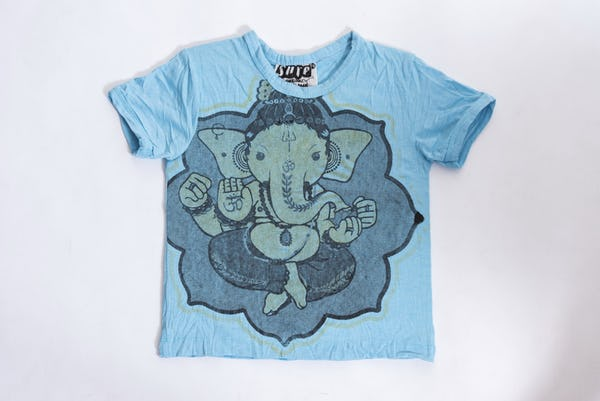 Sure Design Kids Baby Ganesha T-Shirt Light Blue