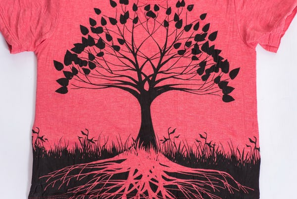 Sure Design Kids Tree Of Life T-Shirt Red