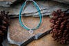 Hill Tribe Hand Made Turquoise and Silver Bracelets with Om Charm